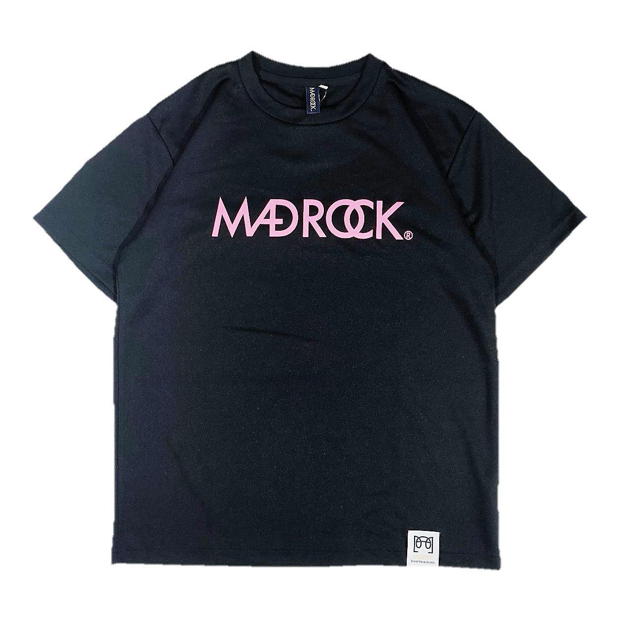マッドロックロゴ Tシャツ/ドライタイプ/ブラック&ピンク