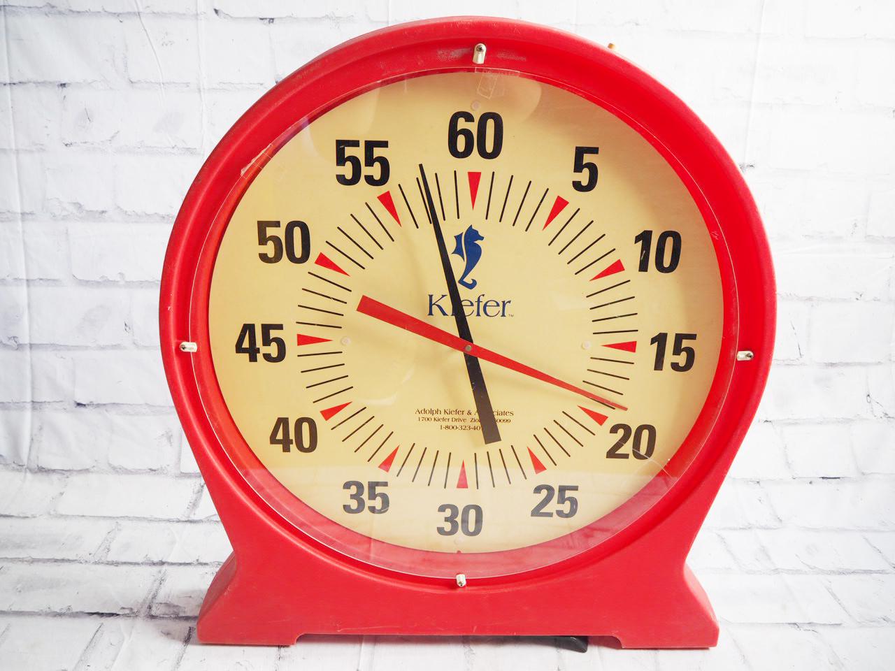 品番0143 Kiefer キーファー 31インチ バッテリー スイミング ペースクロック 1-800-323-4071 ヴィンテージ