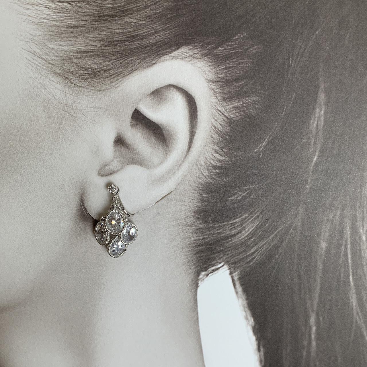 Teardrop earrings  ティアドロップイヤリング CZ  #SP0140 【STELLAPARK】