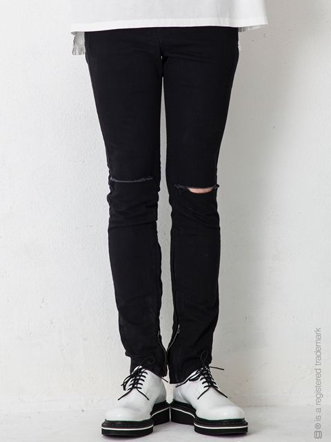"【AG by EXPERIMENT】ASYMMETRY SKINNY DNM SIDE LINE ""ows"""