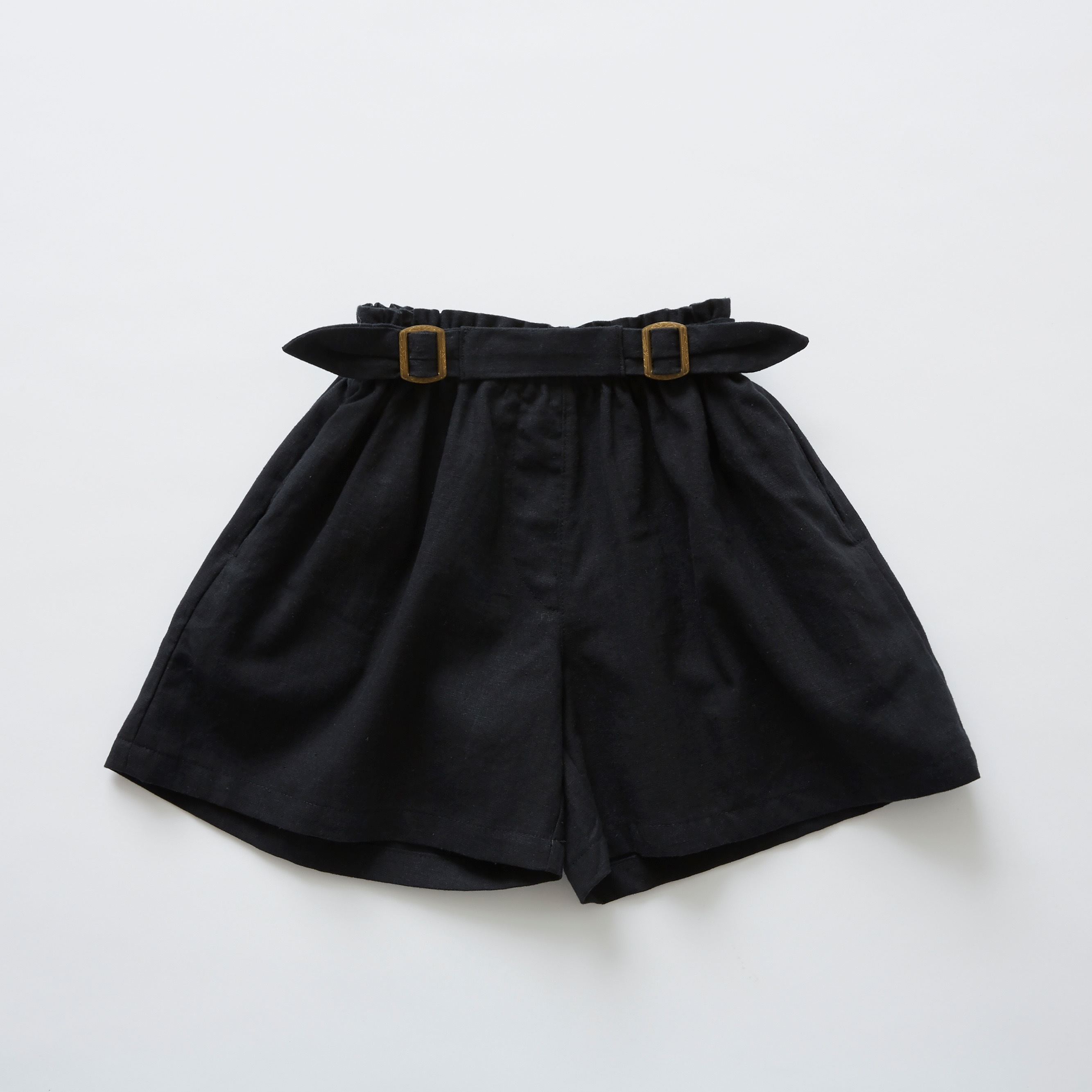 《eLfinFolk 2019SS》linen canvas culotte pants / black / 90-100cm