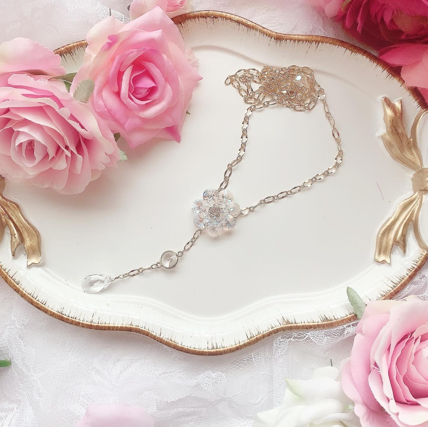 twinkle camellia♡ネックレス