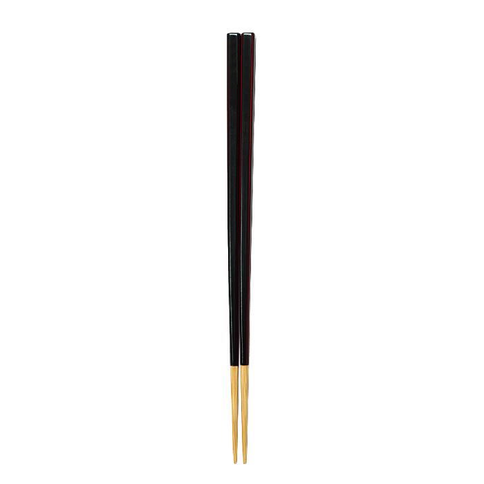 黒溜塗角箸(大) 【45-110】