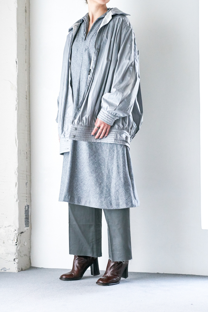 90's Silver Pleated Jacket