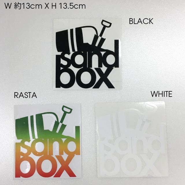 """SANDBOX カッティングステッカー 5""""STACKS  (BLACK / RASTA / WHITE)"""