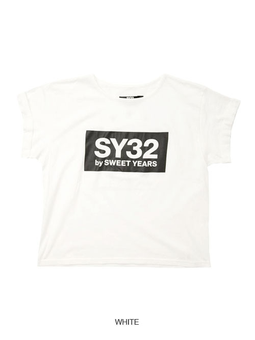 SY32 【Women's】ROLL UP BOX LOGO TEE(9057J)
