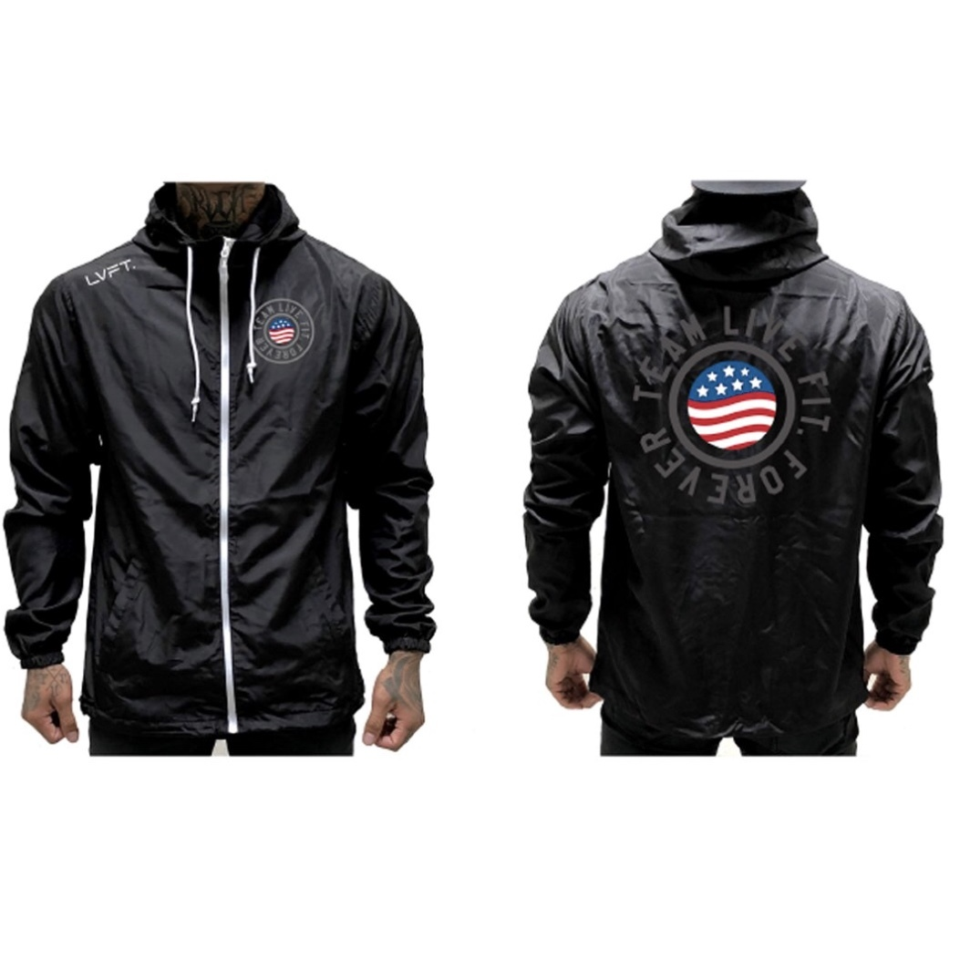 LIVE  FIT United Windbreaker - Black