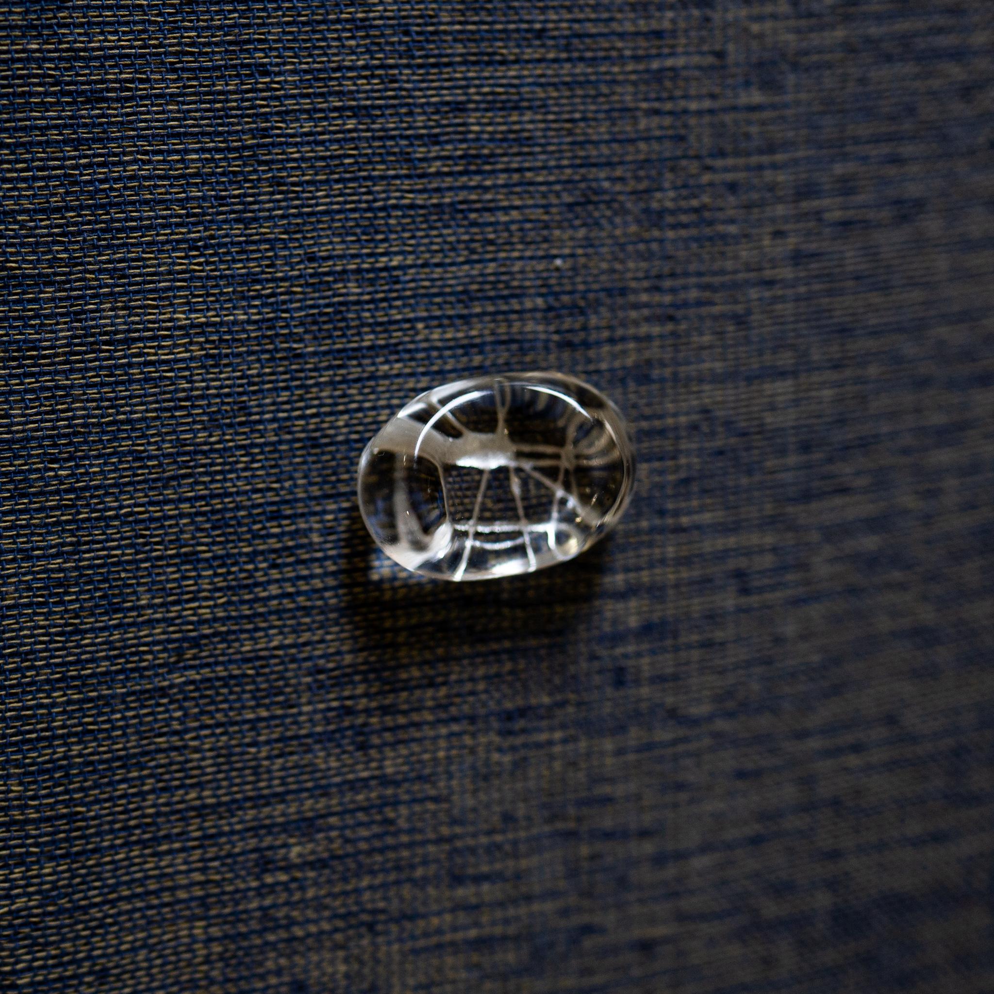 豆ガラス 箸置き 銀糸 / 金糸