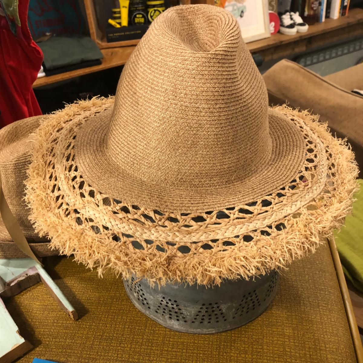 MARIHOJA #Raffia paper mix Tulip Hat