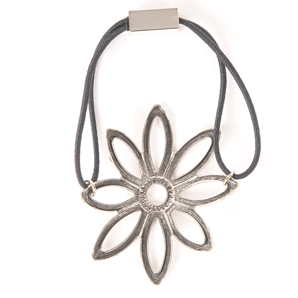Joe17AW-04 metal flower gom (silver)