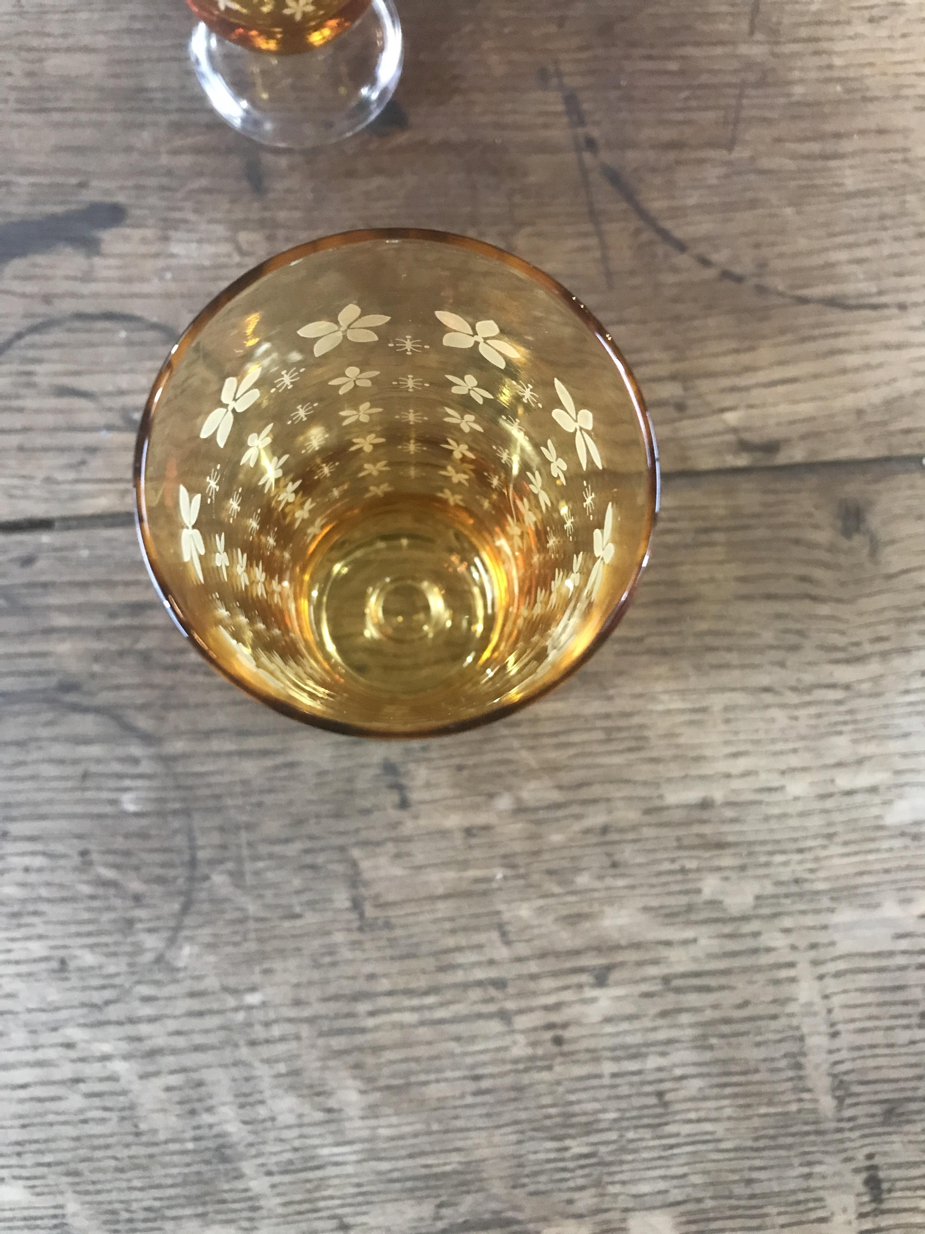 アデリア 脚付グラス