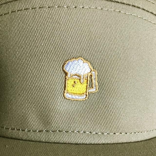 P.O.P ビールジョッキ刺繍キャンパーCAP - 画像2