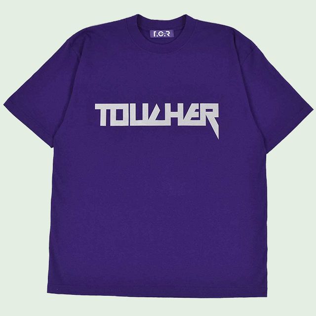 OVERSIZED REFLECTIVE LOGO HEAVY OZ TEE - PURPLE