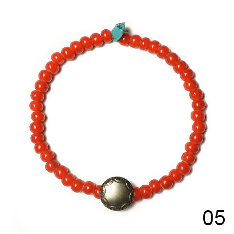 Button Works(ボタンワークス) White Hearts Concho Bracelet (ホワイトハーツコンチョブレスレット) Type:C