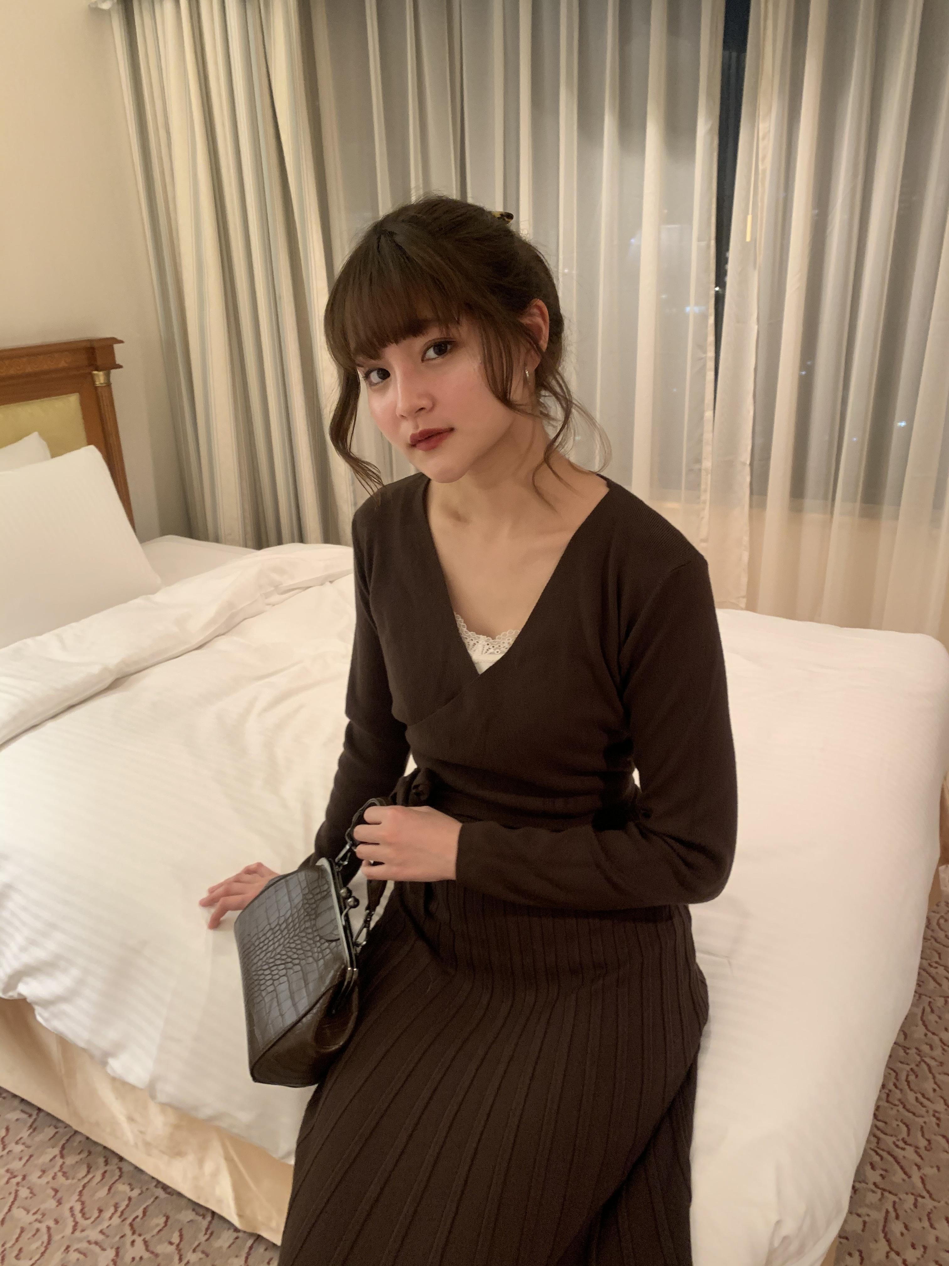 lady knit one-piece