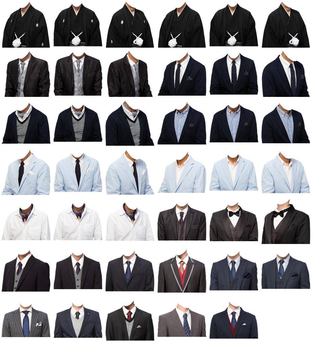 男性着せ替え素材セット 41個 C211