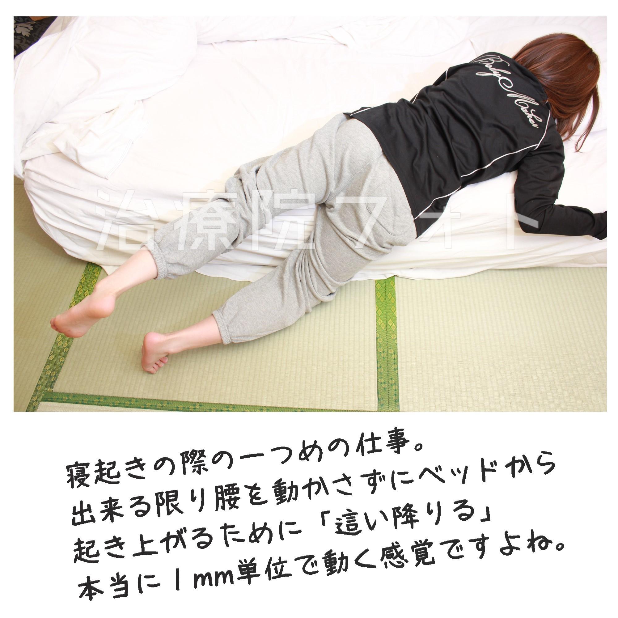 寝起き1 ベッドから這い降りる その1