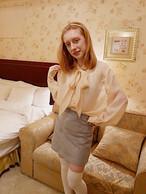 【KissMeLove】Suede skirt