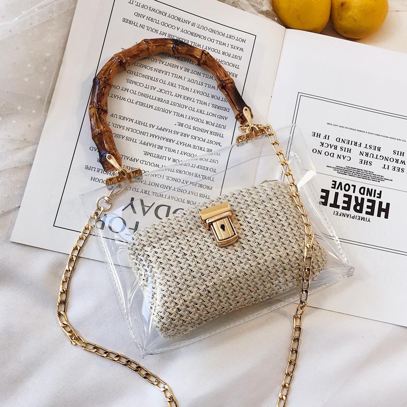 【小物】絶対流行ファッション差込錠草編み無地斜め掛けバッグ20606075