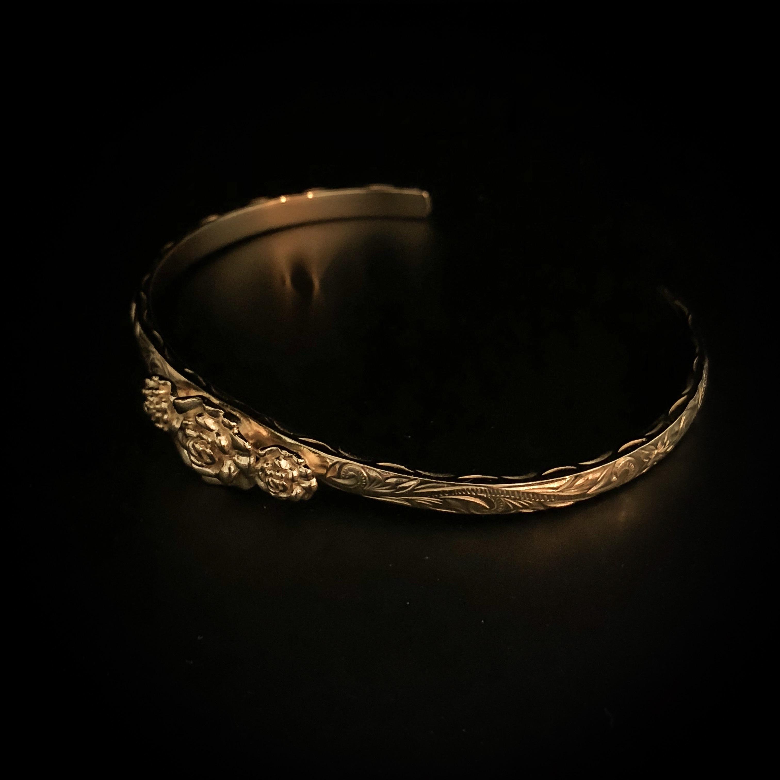 24kgp Hawaiian jewelry bangle(3rose)