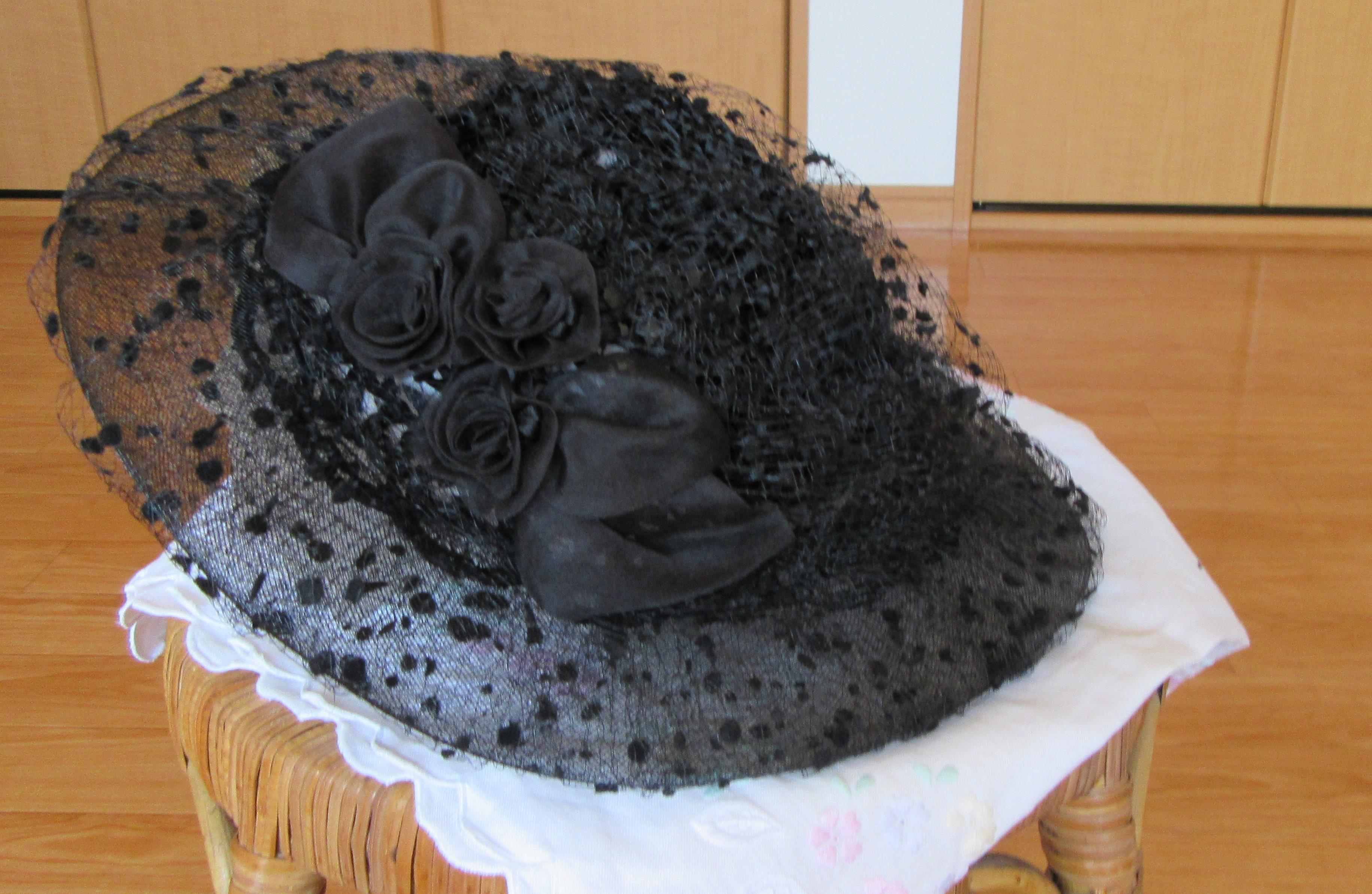 帽子 クロシェ 黒 新品