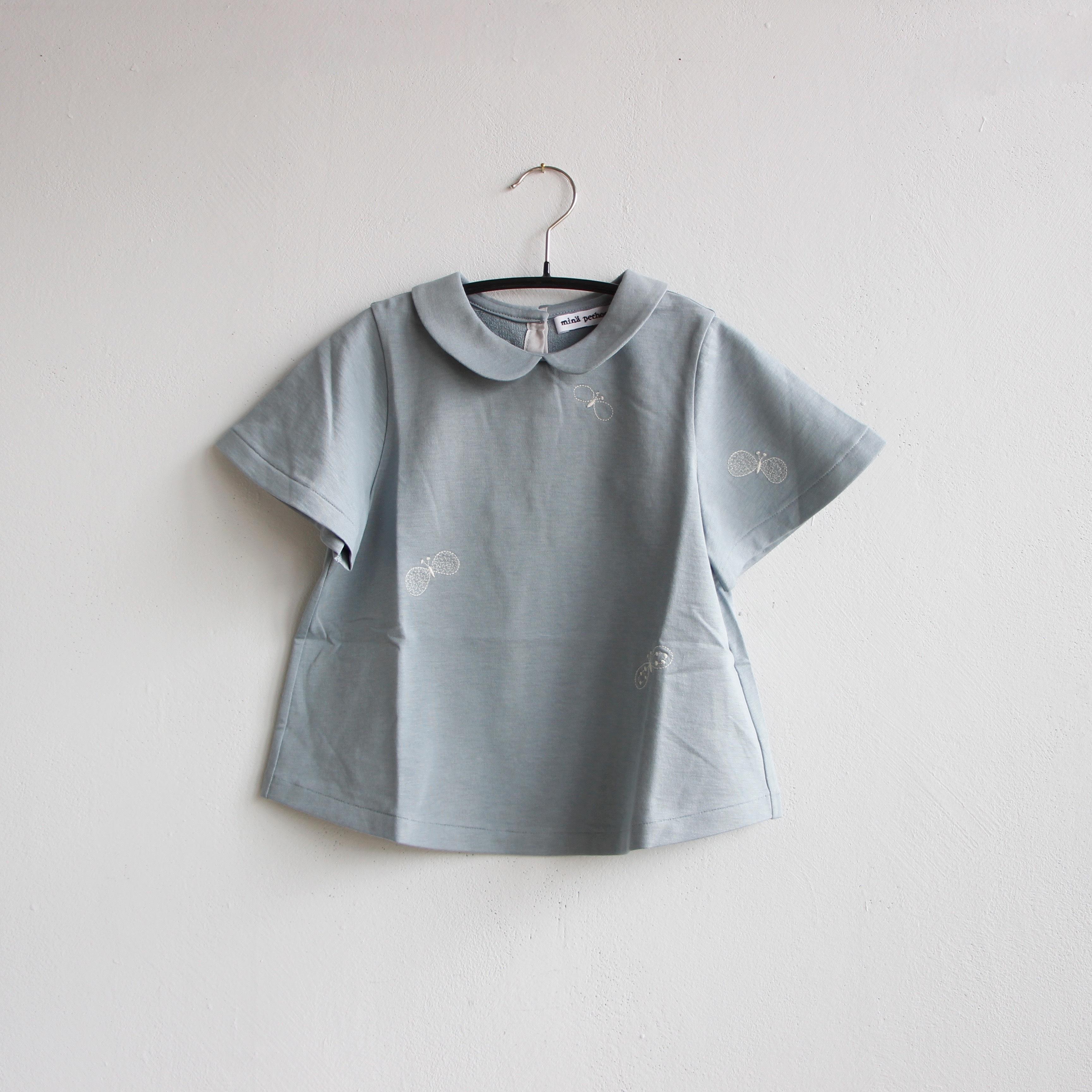 《mina perhonen 2020SS》choucho 半袖カットソー / blue gray / 80-100cm