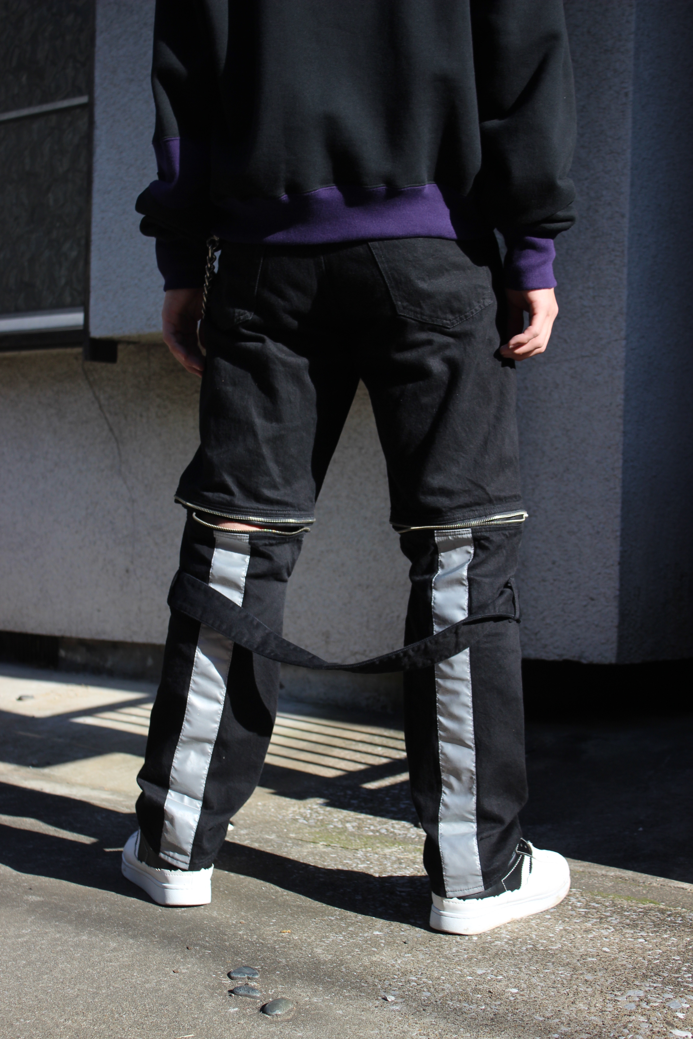 DENIM BONTAGE PANTS / BLACK - 画像4