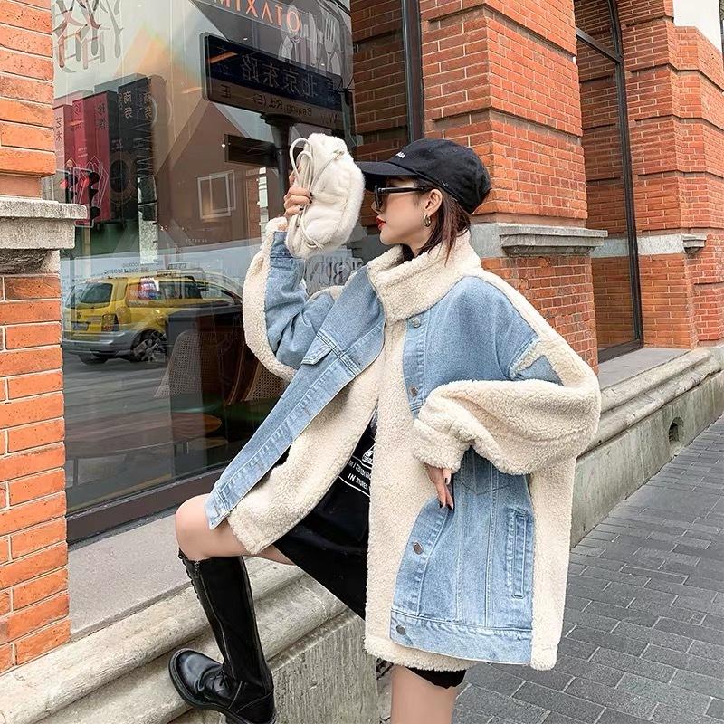 【1点のみ即納】bore mix denim jacket