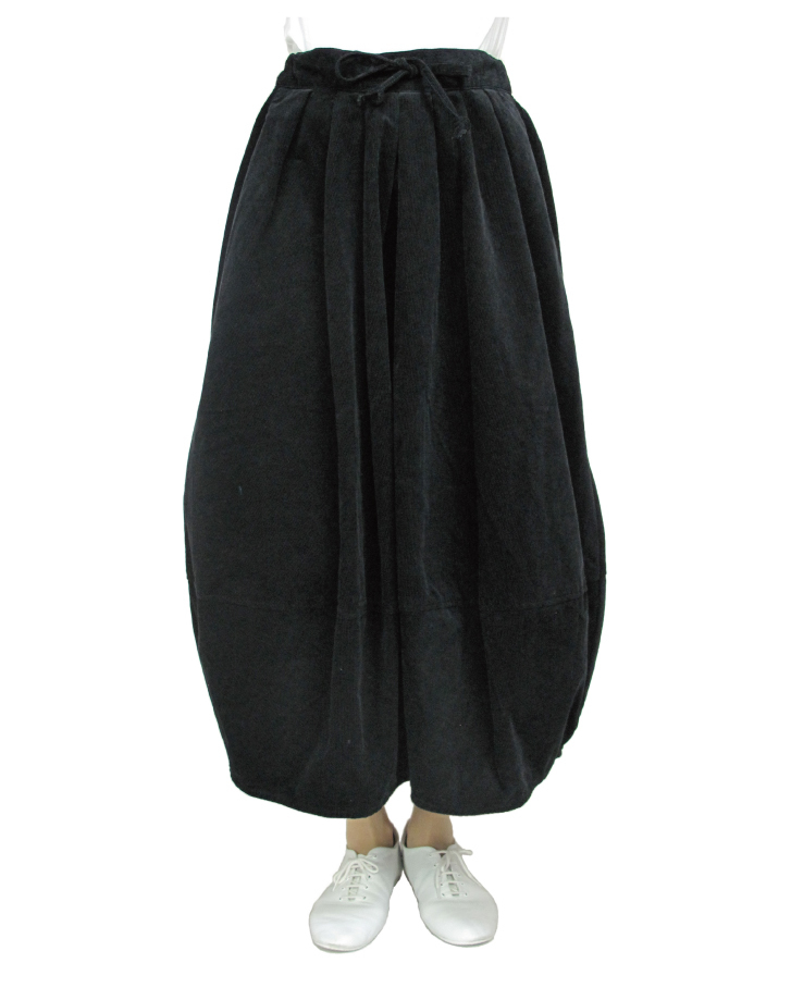 cord cocoon skirt Lot:35310 - 画像5