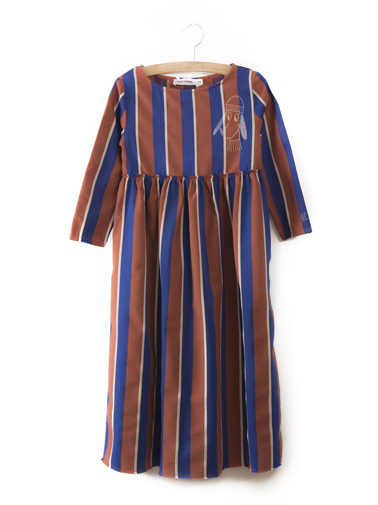 《BOBO CHOSES 2017AW》Awning stripes Princess Dress