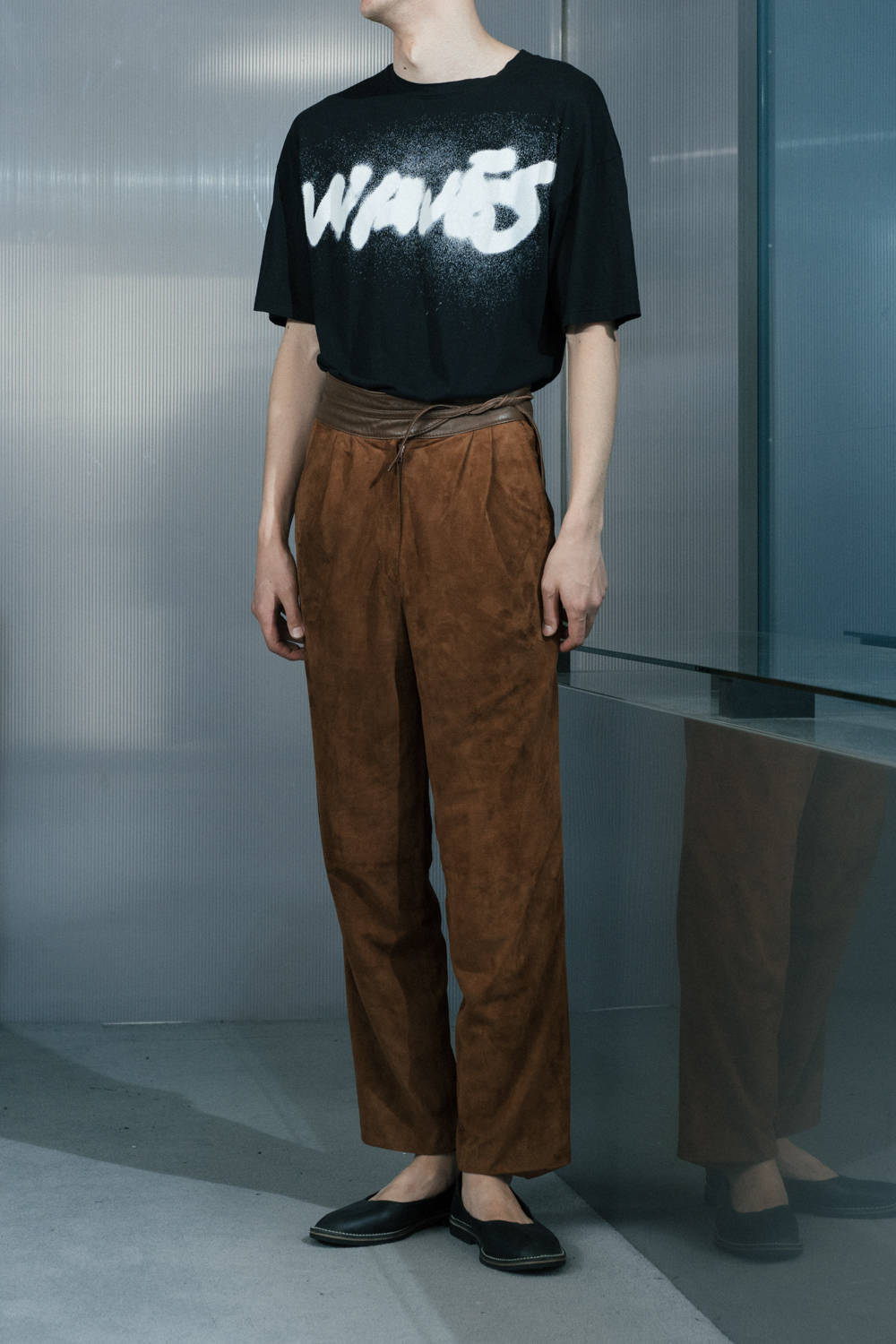 70's Brown Suede Tapered Pants