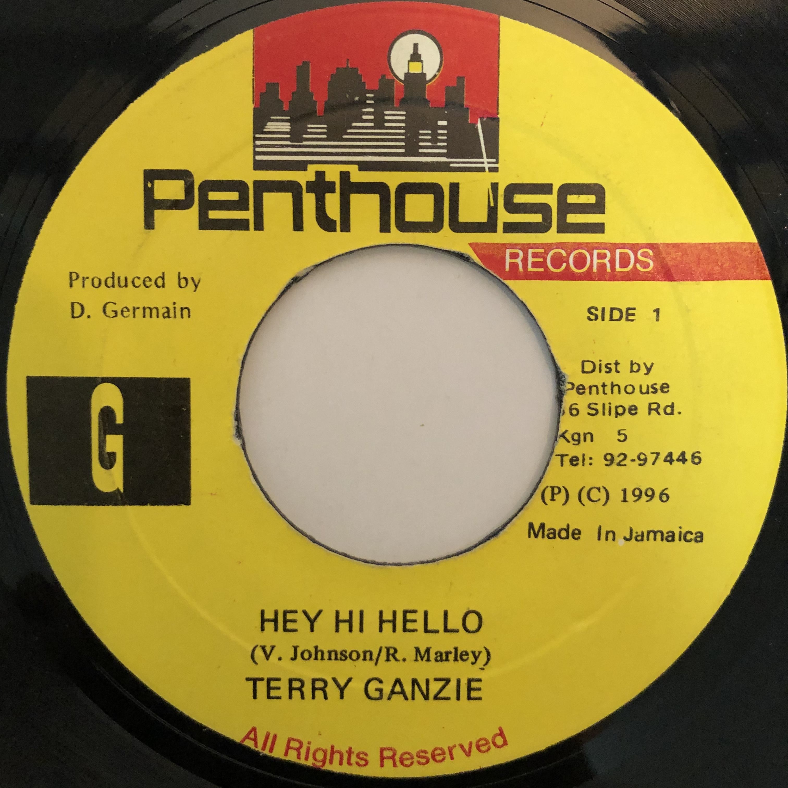 Terry Ganzie(テリーガンジー) - Hey Hi Hello【7-20271】