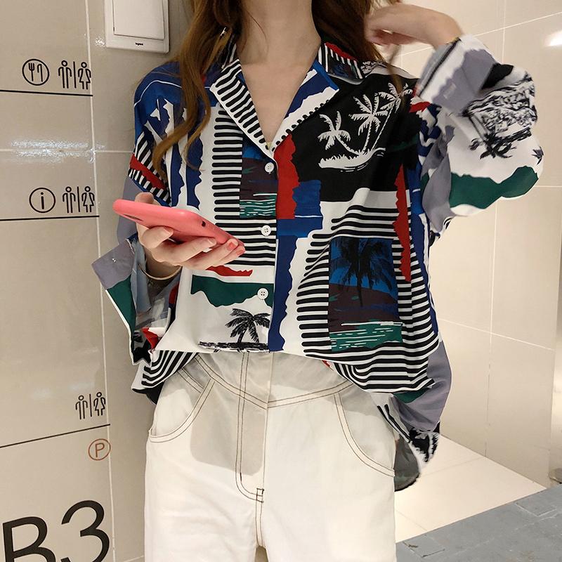 【tops】プリントファッション人気シャツ26656338