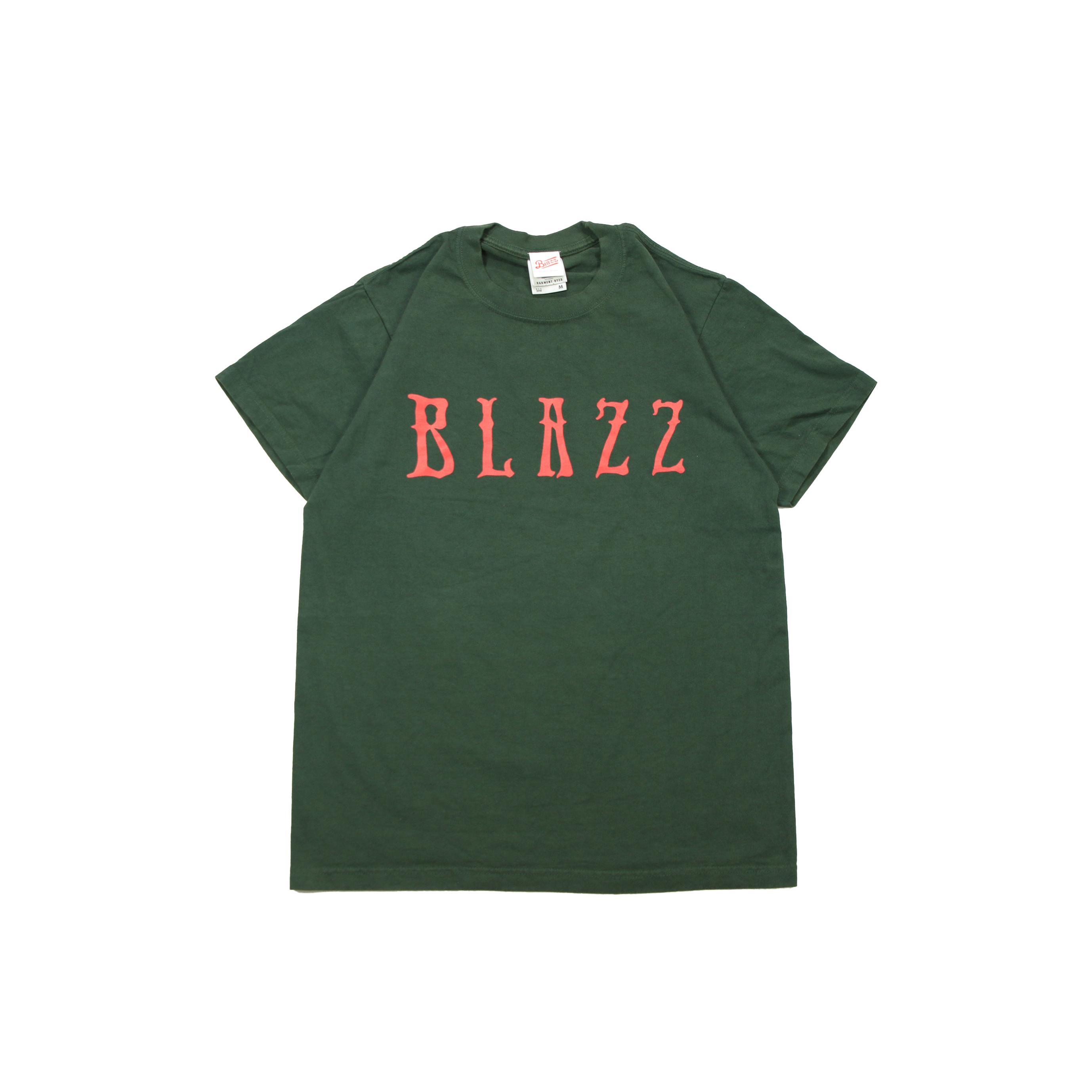 Euro Blazz Super Heavy Garment Dye TEE [GREEN/RED]