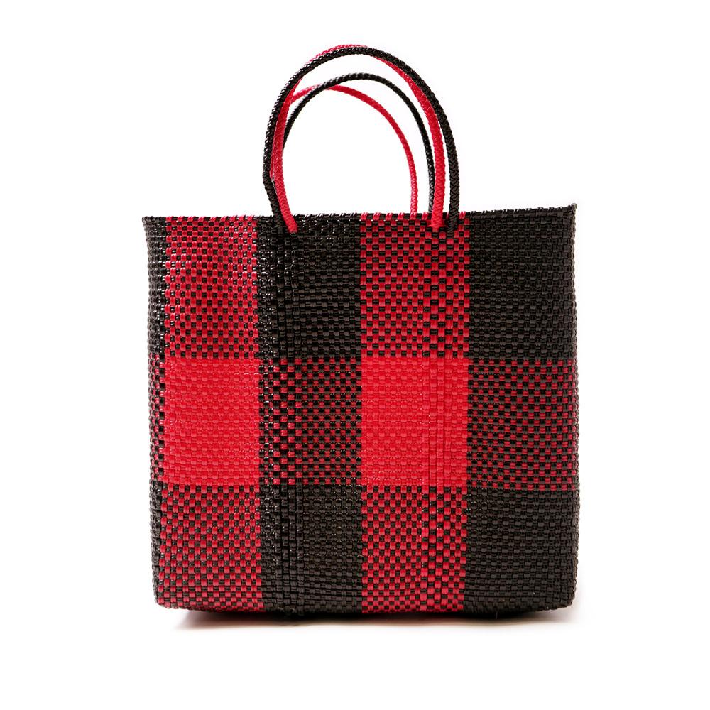 MERCADO BAG TABLERO- Red x Black(M)