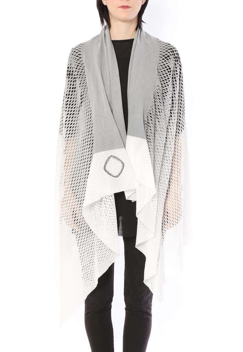 [着るストール]PLAIN CORNICE STOLE【COTTONコットン】 プレインコーニス ストール [登録意匠]カラーグラデーション  GRAY 1117CG[送料/税込]