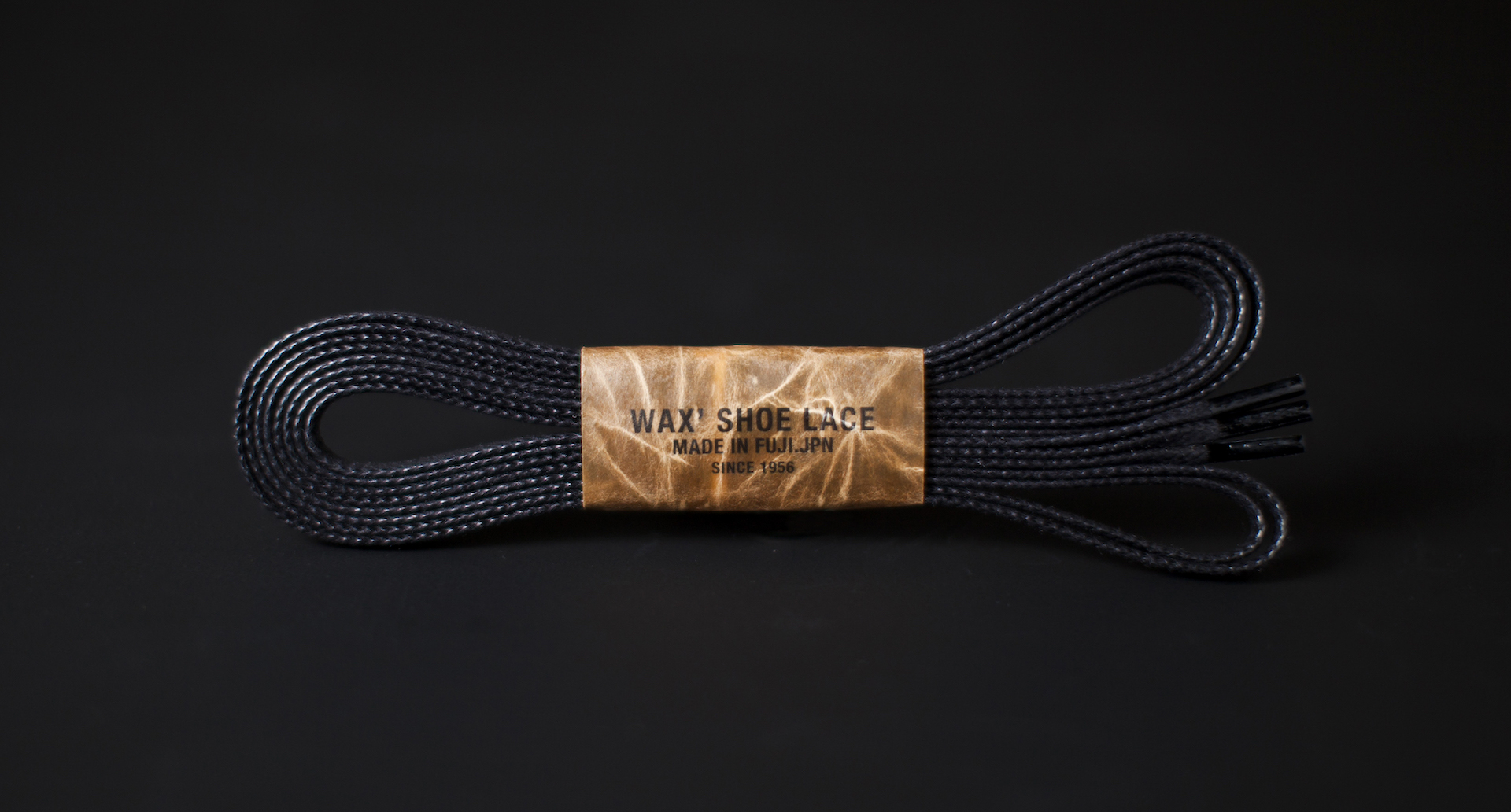 150cm WAX' SHOE LACE / BLACK