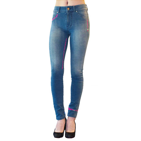 PINK NEON TATTOO JEANS