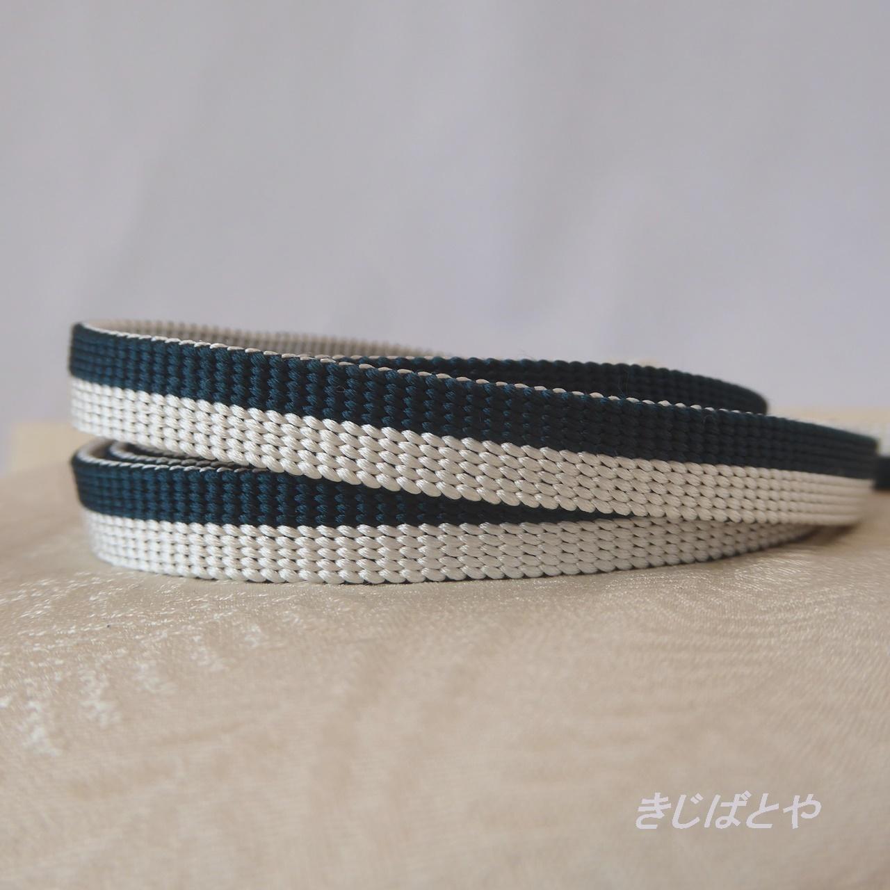 【N様ご予約品】正絹 藍と白の縞の三分紐
