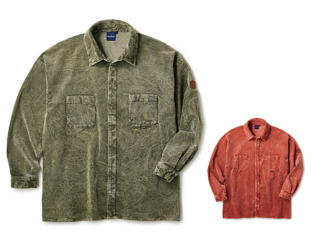 INTERBREED|Cracked Corduroy Shirts