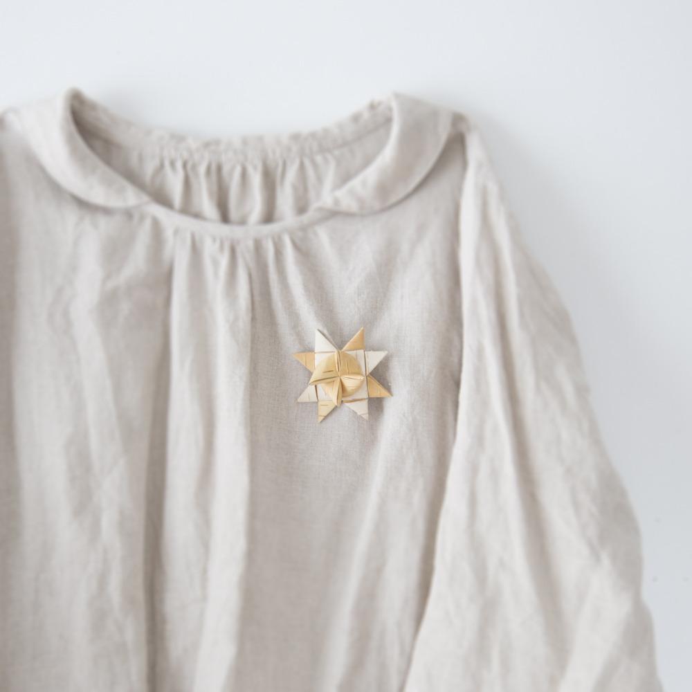 白樺のお星さまブローチ