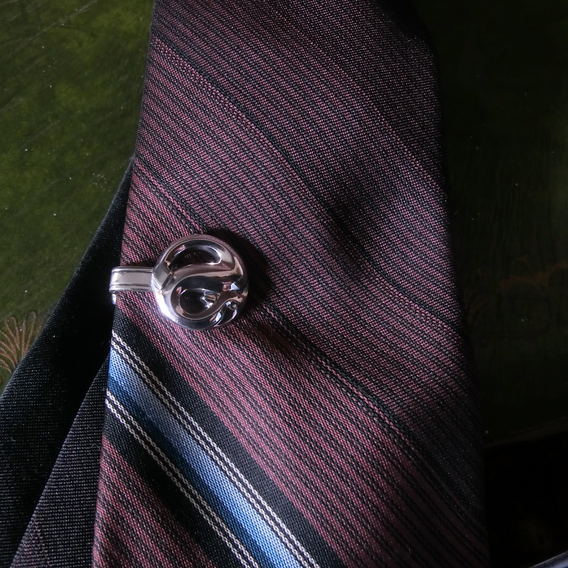 R.S TIE CLIP -silver925- ヘビのネクタイピン シルバー