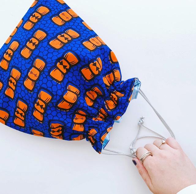 ハナニミズヲ 巾着BAG