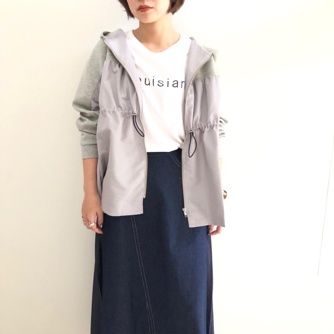【 ROSIEE 】- 172704 - ナイロン切り替えZIPフーディーJKT