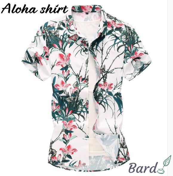 花柄シャツ メンズ アロハシャツ シャツ 大きいサイズ カジュアルシャツ 開襟シャツ リゾート 夏 2019 涼しい