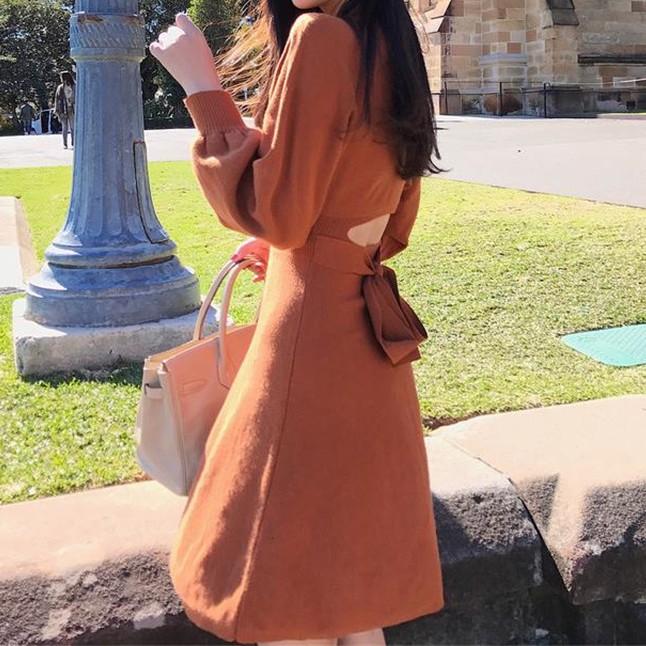 【dress】 セクシー透かし彫り着痩せデートワンピース26883246