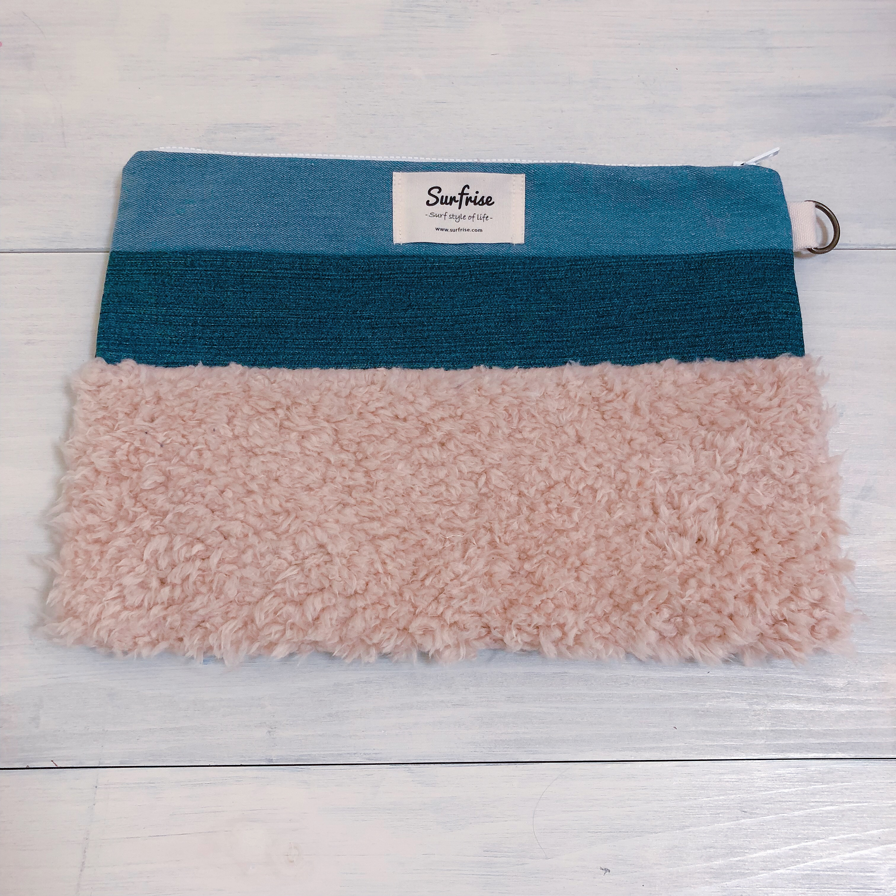 Denim clutch bag MC - Beige