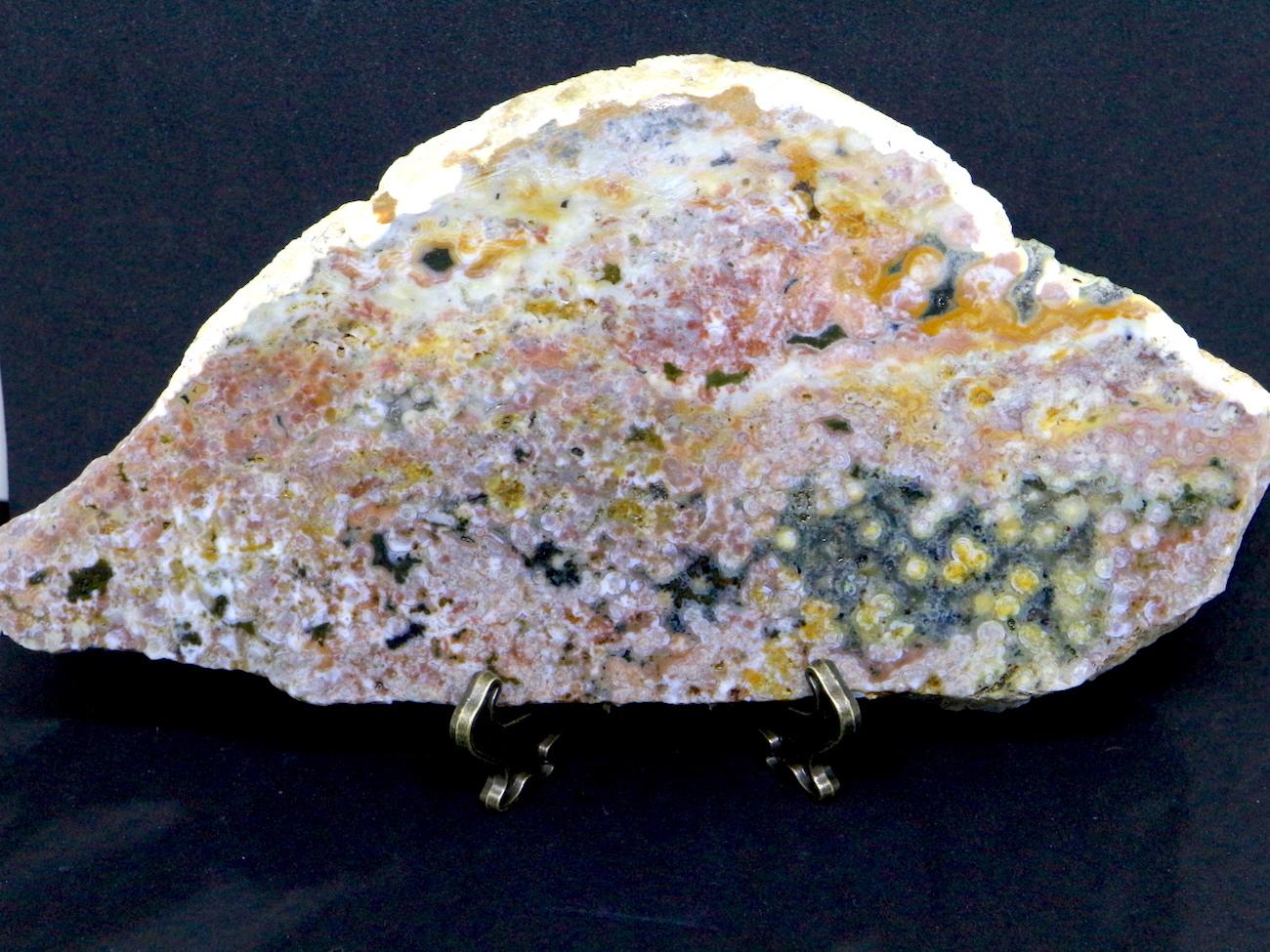 大スライス! オーシャンジャスパー マダガスカル産205,9g OJ070 鉱物 天然石 原石 パワーストーン