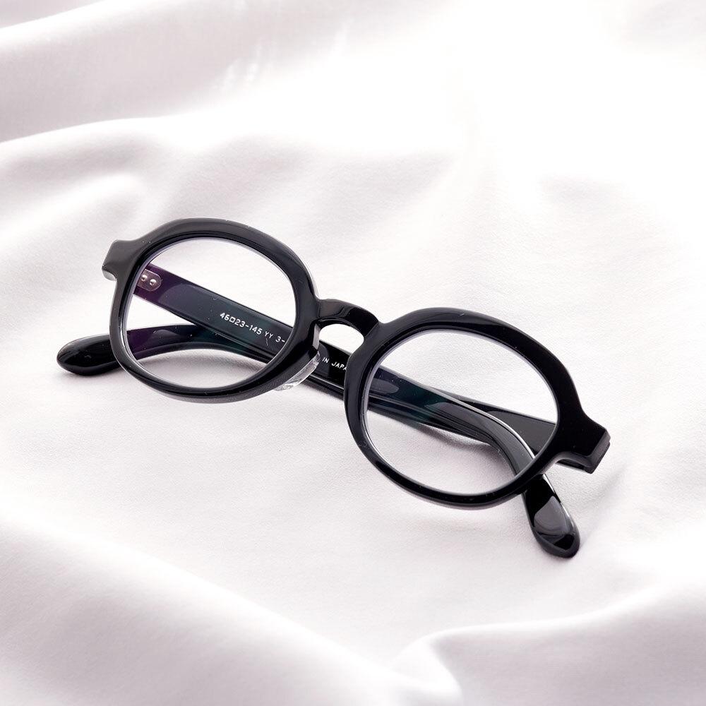 YY - 3 19 / polygon glasses (clear lens)
