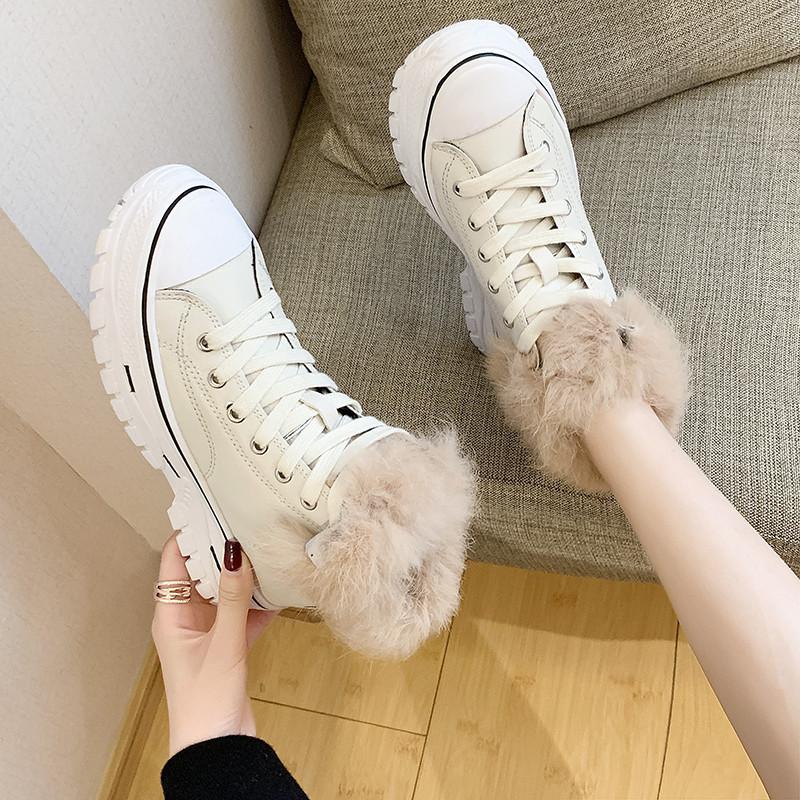 【shoes】カジュアルハイヒール配色人気スニーカー24311348